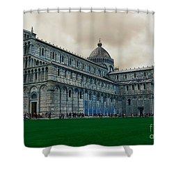 Pisa Shower Curtain by Ramona Matei