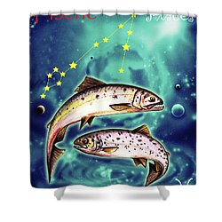 Pisces In The Sky Shower Curtain