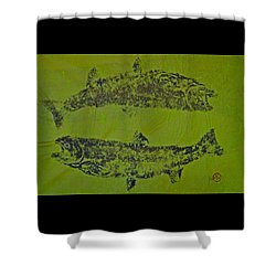 Pisces Rising  Steelhead Salmon Shower Curtain