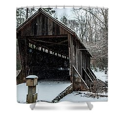 Pisgah Covered Bridge - Modern Shower Curtain
