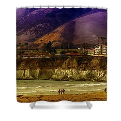Pismo Beach Cove Shower Curtain by Joseph Hollingsworth