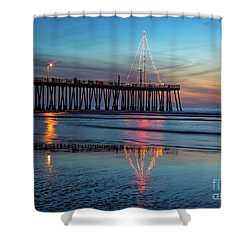 Pismo Pier Lights Shower Curtain