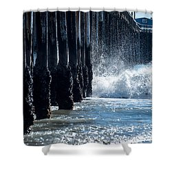 Pismo Pier Shower Curtain