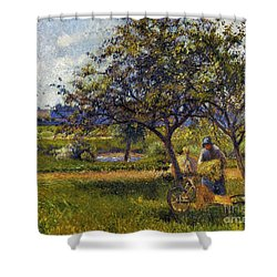 Pissarro: Wheelbarr., 1881 Shower Curtain by Granger