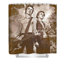 Pistols Shower Curtain