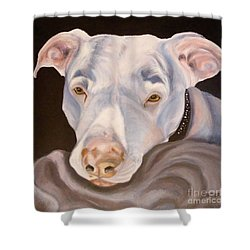 Pit Bull Lover Shower Curtain