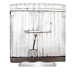 Pitch Fork Shower Curtain by Marilyn Hunt