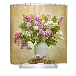 Pitcher Of Lilacs Shower Curtain