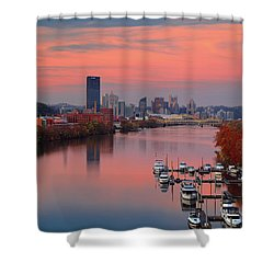 Shower Curtain featuring the photograph Pittsburgh 31st Street Bridge  by Emmanuel Panagiotakis