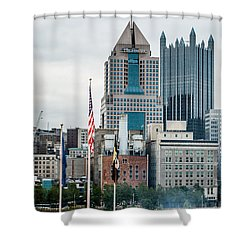 Pittsburgh - 6975 Shower Curtain by G L Sarti