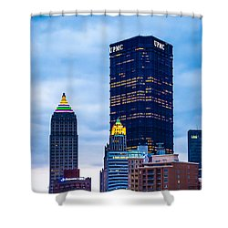 Pittsburgh - 7012 Shower Curtain by G L Sarti