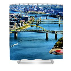 Pittsburgh At The Point Shower Curtain