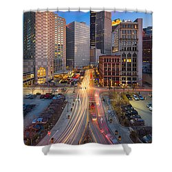 Shower Curtain featuring the photograph Pittsburgh Cultural District by Emmanuel Panagiotakis