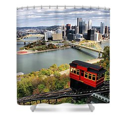 Shower Curtain featuring the photograph Pittsburgh From Incline by Michelle Joseph-Long