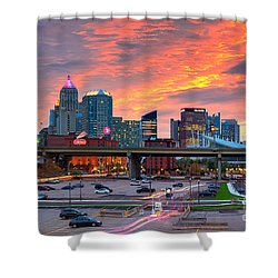Shower Curtain featuring the photograph Pittsburgh From The Strip by Emmanuel Panagiotakis