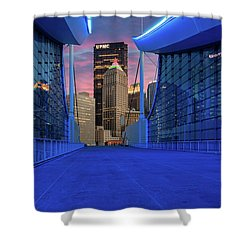Pittsburgh In Blue  Shower Curtain