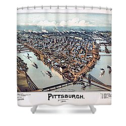 Pittsburgh Pennsylvania 1902 Shower Curtain