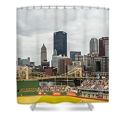 Pittsburgh/pnc Park - 6986 Shower Curtain by G L Sarti