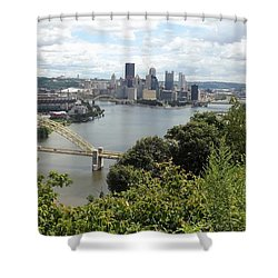 Pittsburgh Series 2  Shower Curtain by Joyce Wasser
