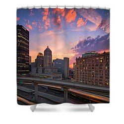 Shower Curtain featuring the photograph Pittsburgh Skyline  60 by Emmanuel Panagiotakis