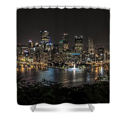 Pittsburgh Skyline Shower Curtain by Brent Durken