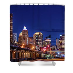 Shower Curtain featuring the photograph Pittsburgh Strip District 2 by Emmanuel Panagiotakis