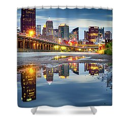 Shower Curtain featuring the photograph Pittsburgh Strip District by Emmanuel Panagiotakis