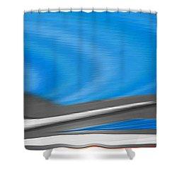 Pittura Digital Shower Curtain by Sheila Mcdonald