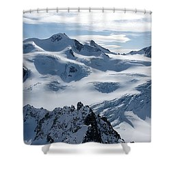 Pitztal Glacier Shower Curtain by Christian Zesewitz