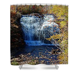 Shower Curtain featuring the photograph Pixley Falls State Park by Diane E Berry