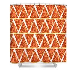 Pizza Slices Shower Curtain by Diane Diederich