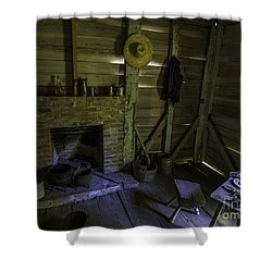 Place By The Fireplace Shower Curtain by Ken Frischkorn