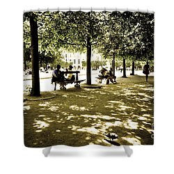 Place De Vosges Shower Curtain by Perry Van Munster