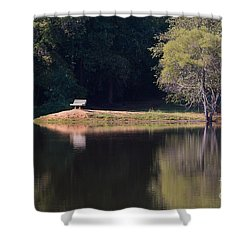 Place Of Reflection Shower Curtain by Kevin McCarthy