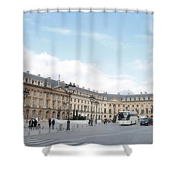Shower Curtain featuring the photograph Place Vendome by Christopher Kirby