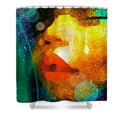 Placid Shower Curtain by Iowan Stone-Flowers