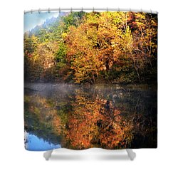 Shower Curtain featuring the photograph Placid Morning by Marty Koch