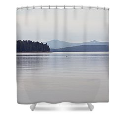 Placid Mountain Lake Shower Curtain