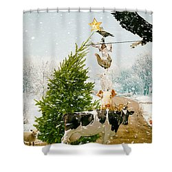 Shower Curtain featuring the photograph Placing Your Star by James Bethanis