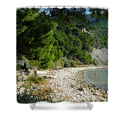 Arene Beach Of Cassis Shower Curtain