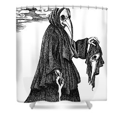 Plague Doctor Shower Curtain