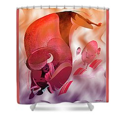 Plain Thunder Shower Curtain