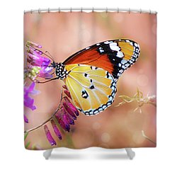 Plain Tiger Shower Curtain