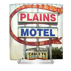 Plains Motel Shower Curtain