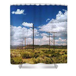 Plains Of The Sierras Shower Curtain
