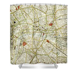 Shower Curtain featuring the photograph Plan Of Central London by Patricia Hofmeester