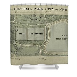 Plan Of Central Park City Of New York 1860 Shower Curtain