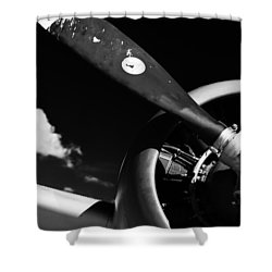 Shower Curtain featuring the photograph Plane Portrait 1 by Ryan Weddle