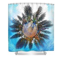 Planet Bourtange Shower Curtain