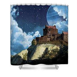 Planet Castle Shower Curtain